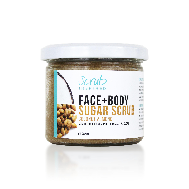 coconut almond sugar scrub by scrub inspired
