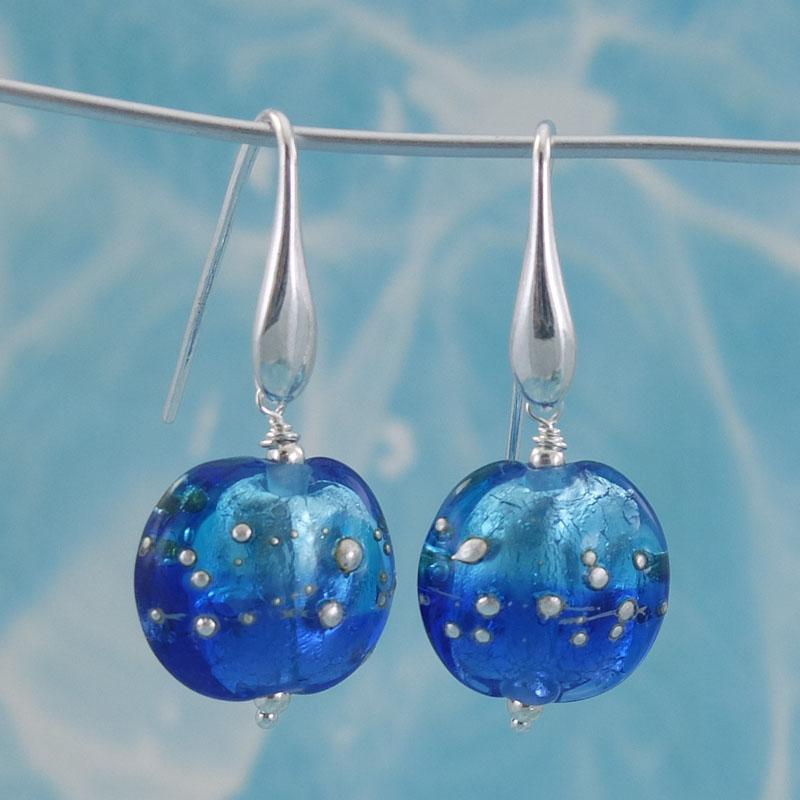 fading sky glass earrings