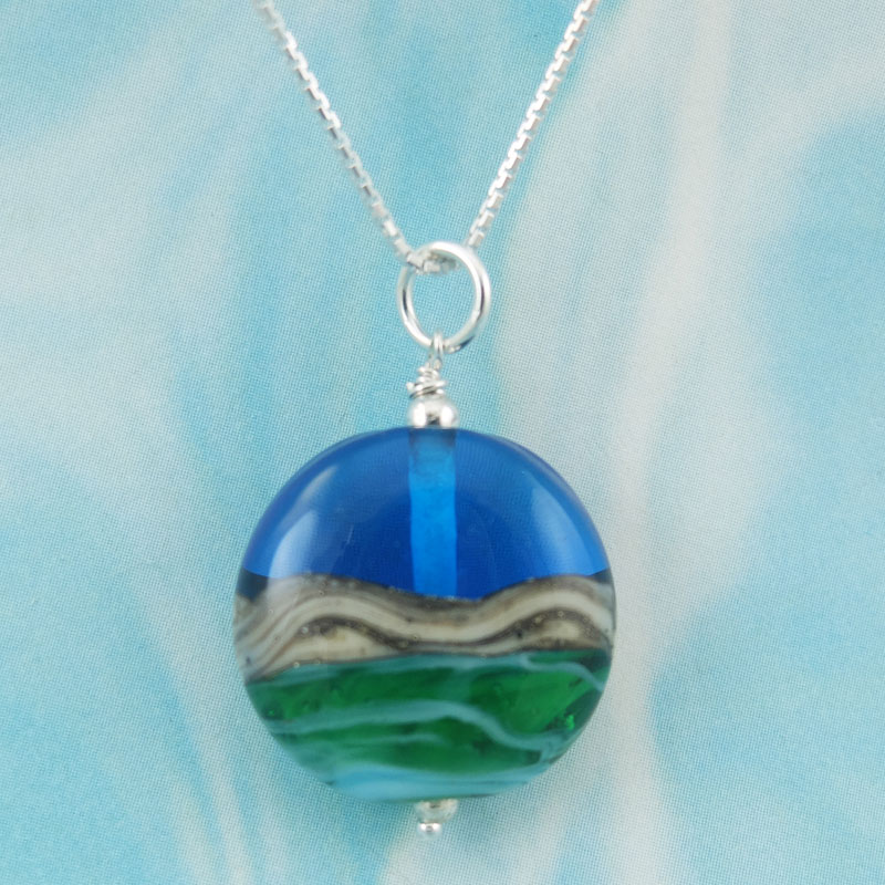 seashore glass pendant sailorgirl Jewelry