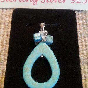 925 Turquoise Stone Pendant