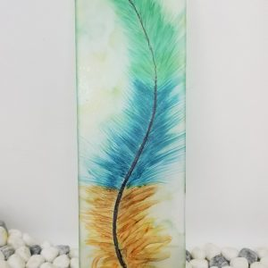 Feather on Acrylic Painting