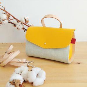 small yellow shoulder bag