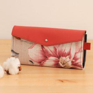 long women wallet pink leather