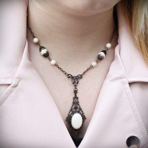 riverstone necklace vintage style