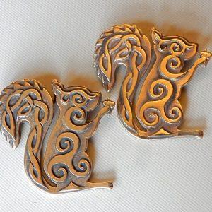 Squirrel Brooch or Pendant