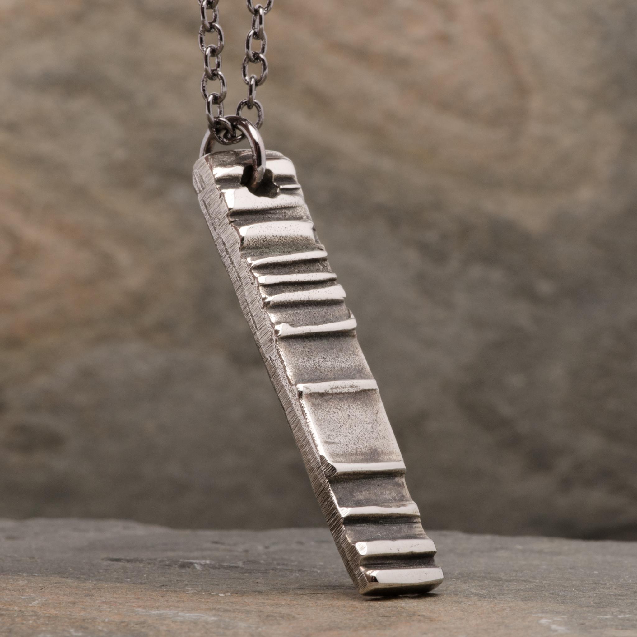 Totem Boneshaker Pendant Necklace Mens Bronze Jewelry