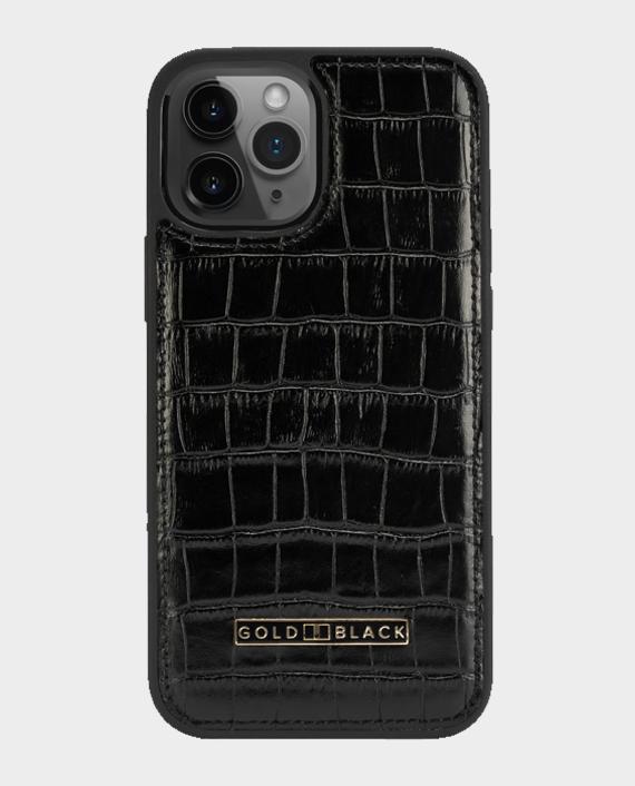 Gold black iphone 12 pro max slim case croco black 7