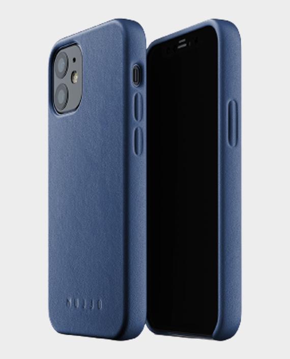 Mujjo iphone 12 mini full leather case monaco blue