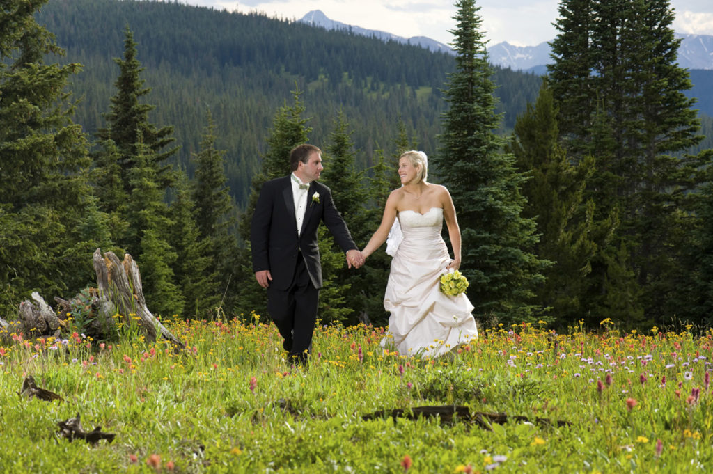 Bride and Groom Keystone Resort Mountain Colorado Rocky Wedding