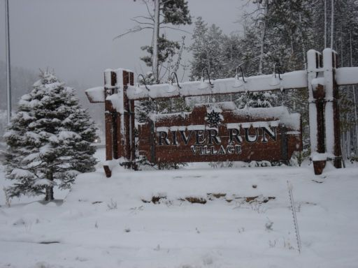 Entrance sign at Keystone Resort in River Run Village