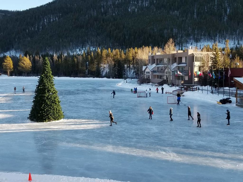 Ice Skating at Keystone Lake Colorado