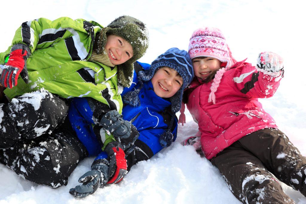 Kids playing in the snow at Keystone Colorado Ski Resort