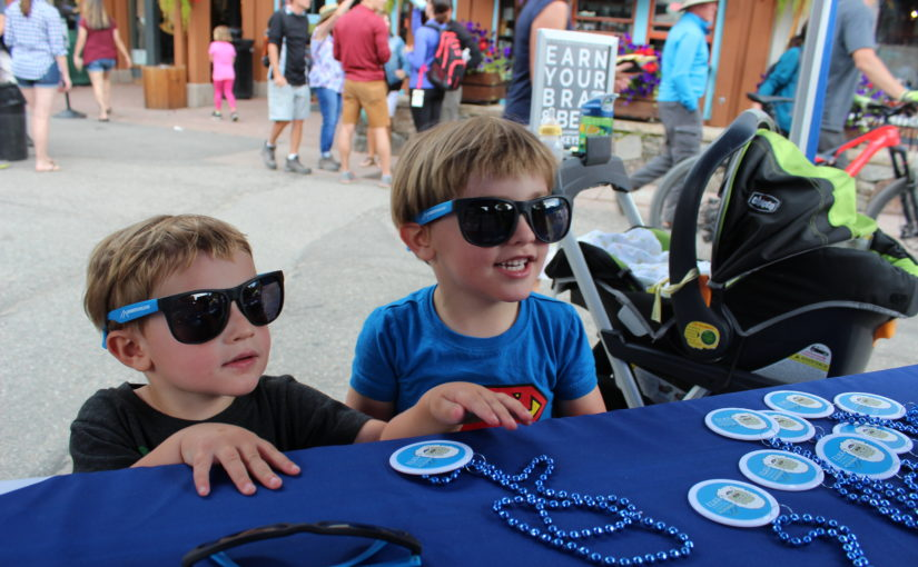 Kids having fun at Keystone Summer Festival in Colorado