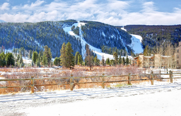 Ski Slope Views from Cinnamon Ridge at Keystone