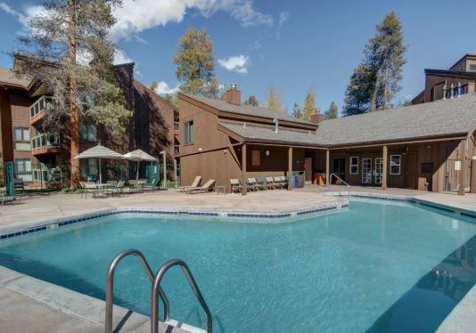 Beautiful heated pool at West Keystone Wild Irishman Condo Rentals