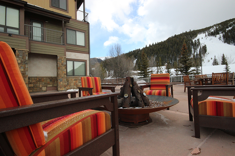 Outdoor Firepit at Slopeside Ski Condos in Keystone