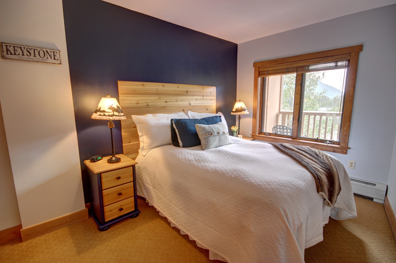 Master Bedroom at Red Hawk Lodge One Bedroom Condo