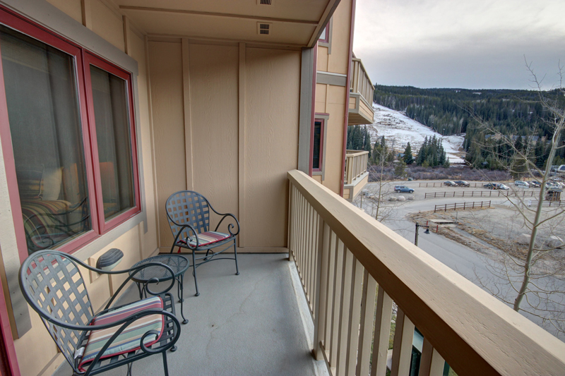 View of the Ski Slopes from Balcony of Red Hawk Lodge Condo