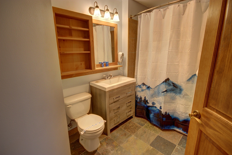 Gorgeous updated bathroom in Red Hawk Vacation Rental Condo