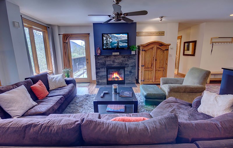 Three Bedroom Living Area At the Springs Condos in Keystone CO