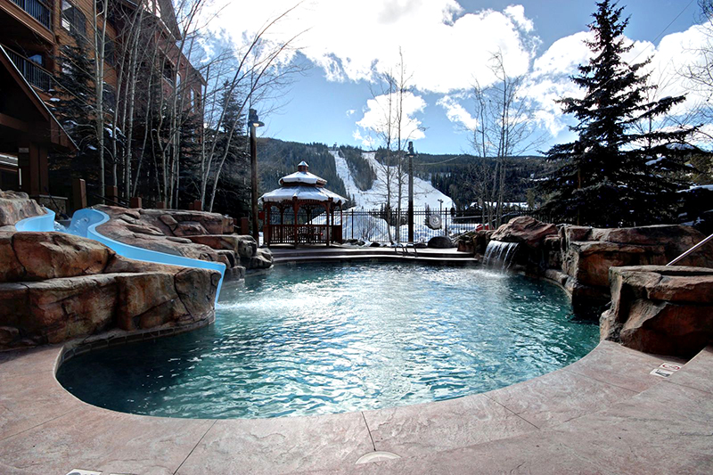 Pool and Waterslide at the Springs