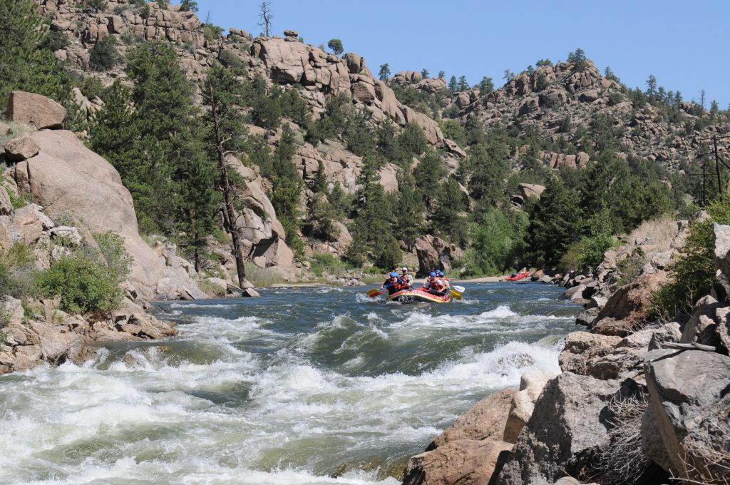 Brown's Canyon Rafting Whitewater Rapids