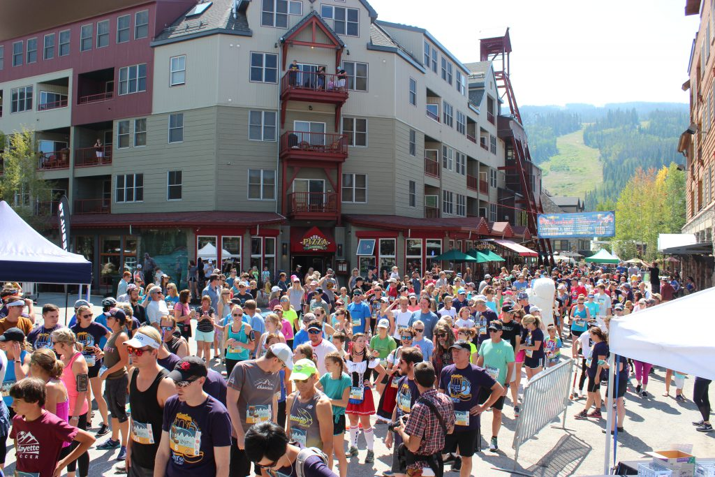Runners at the Das Bier Burner at Oktoberfest in Keystone CO