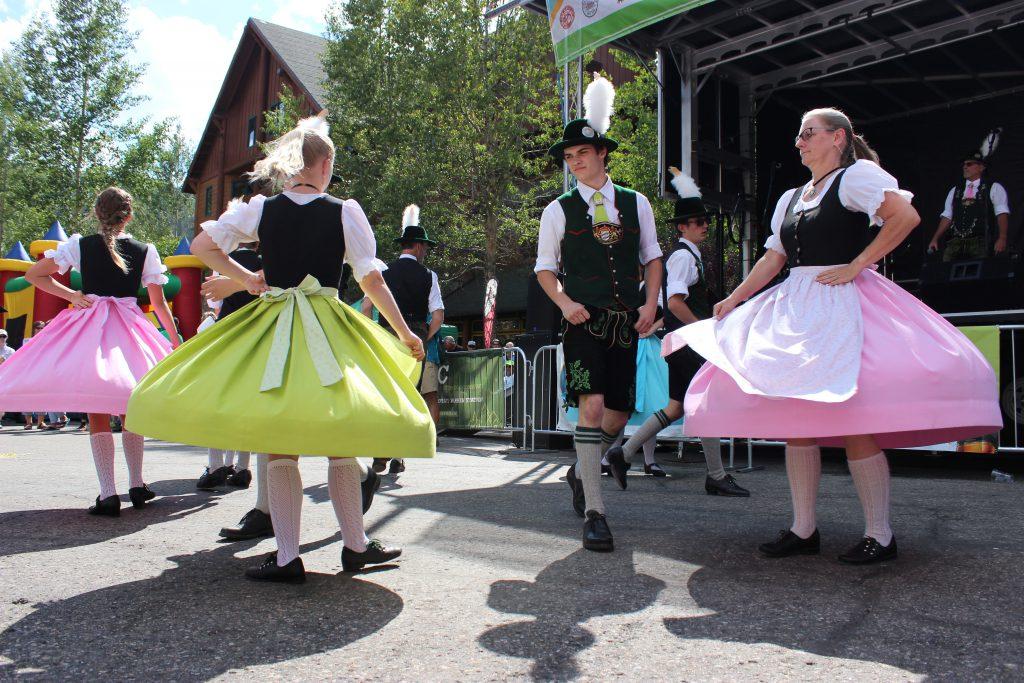 The Bavarian Schuhplattlers performing at Keystone Oktoberfest