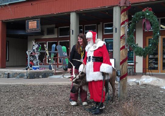 River Run Santa with Reindeer