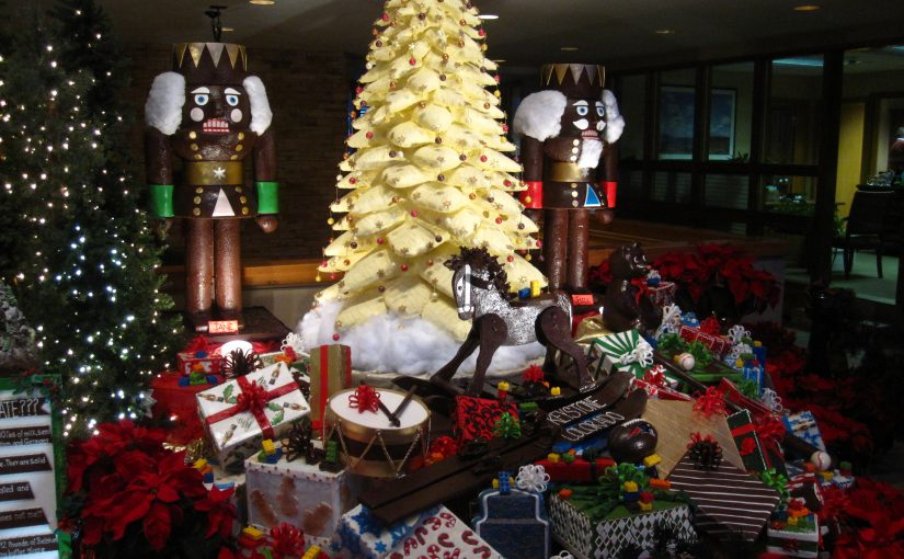 Chocolate Village Christmas Tree at the Keystone Lodge & Spa
