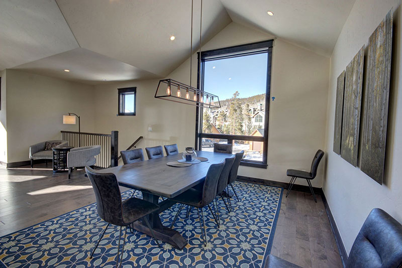 Modern dining area at River Run Townhomes in Keystone CO