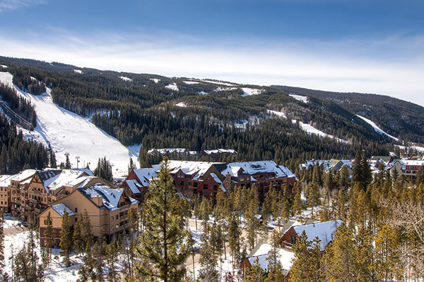 Ski slopes views from Keystone Brom House Rental