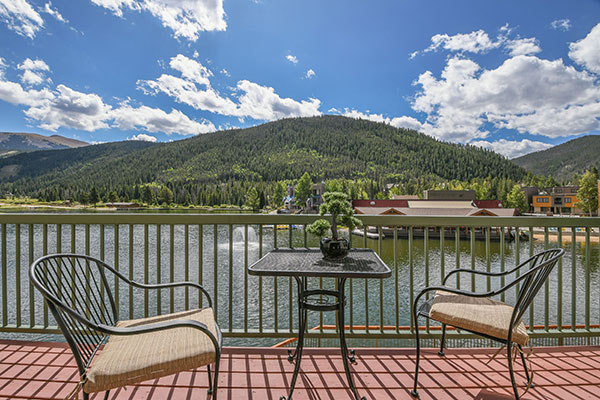 Mountain and Lake view at Lakeside Condos in Keystone Resort