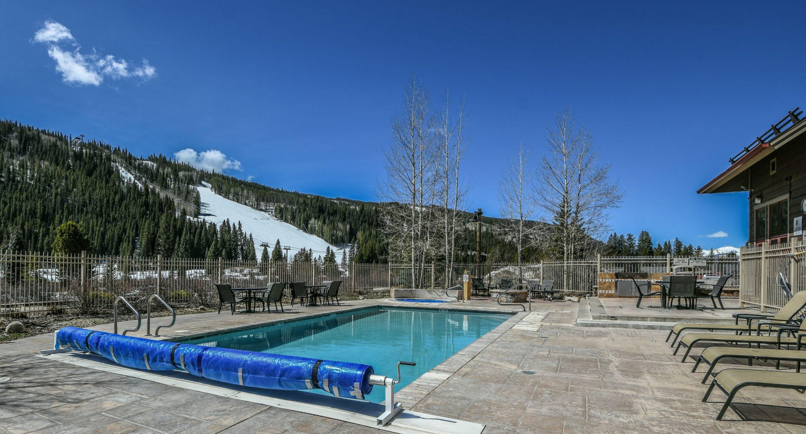 Ski Slope Views from Red Hawk Lodge Pool Keystone Resort