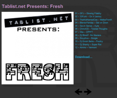 Tablist.net Presents: Fresh - download now...