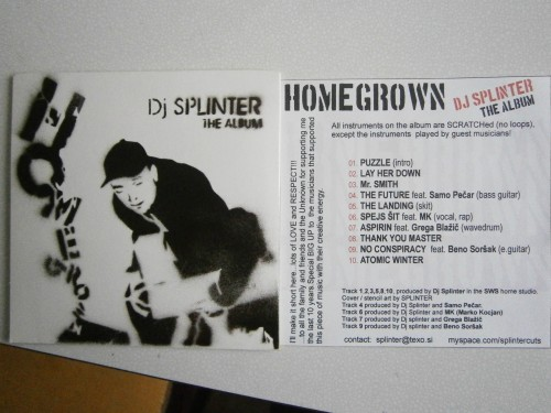 HOMEGROWN scratched music by SPLINTA