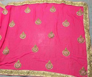 pallu scat and lace