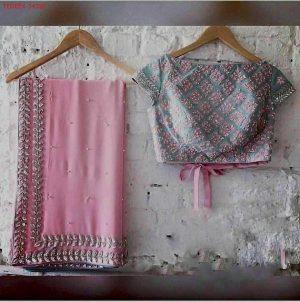 blouse lace concept Cording sequence Saree Design