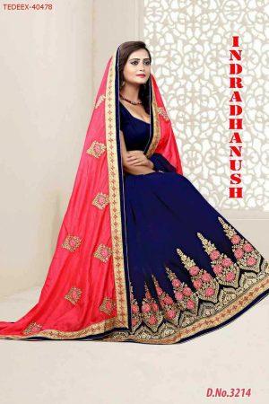 patli -pallu half-half concept  saree