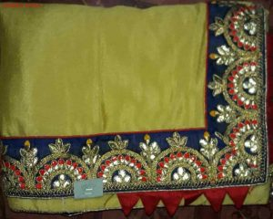 paper work Lace boder concept packing saree