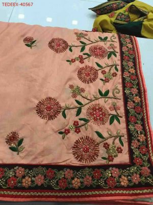 hand work box- pallu sarees