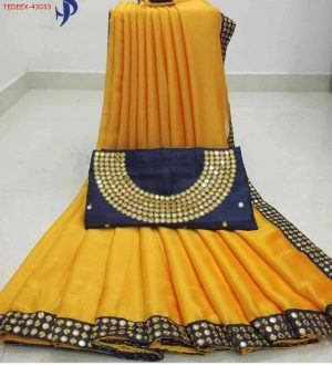 BODER CONCEPT SAREE WITH BLOUSE