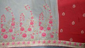 half -half saree