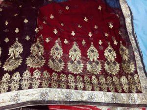 Pallu Skirt lace