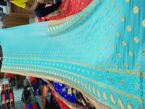 Only pallu and skirt