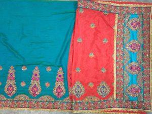 box pallu, half-half concept patli-pallu saree