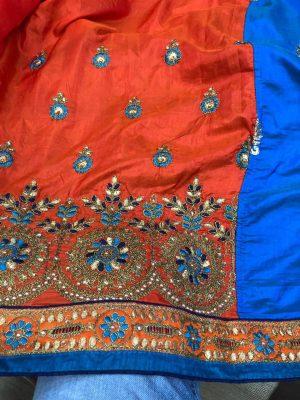 box pallu half-half concept patli-pallu saree