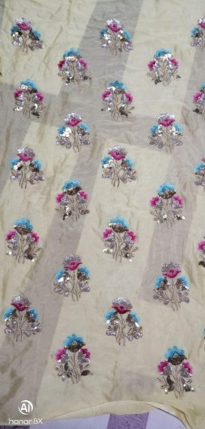twin sequin all over garment ( 3+5 mm)