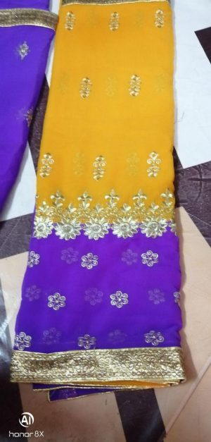 HALF HALF single jari saree