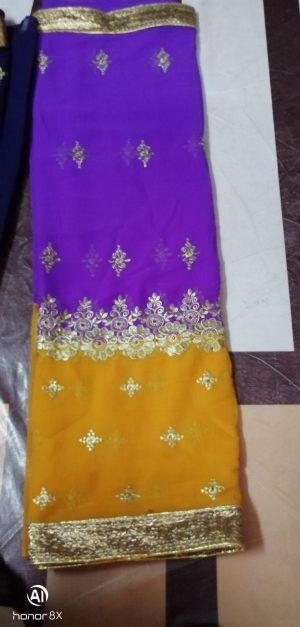 single jari concept half-half saree